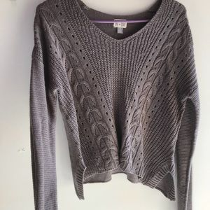 Converse one star v-neck sweater top size small